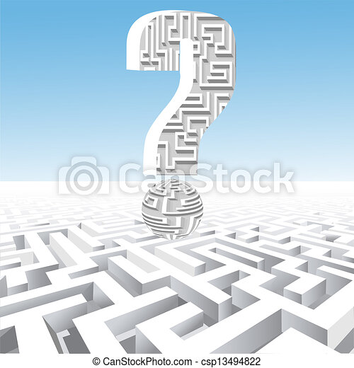 of a question mark over the maze - csp13494822