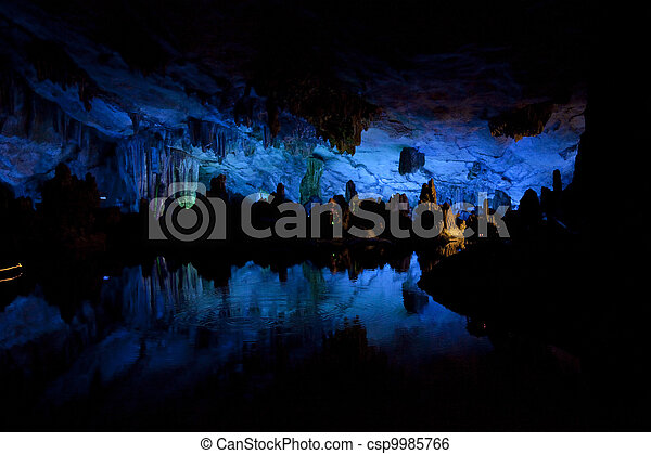 of light in the cave - csp9985766