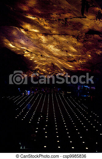 of light in the cave - csp9985836
