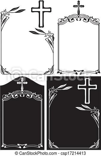 of, overlijdensbericht, plaque - csp17214413