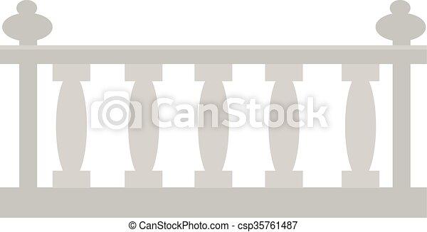 of, steen, hek, metal., ouderwetse , gemaakt, architecturaal, gips - csp35761487