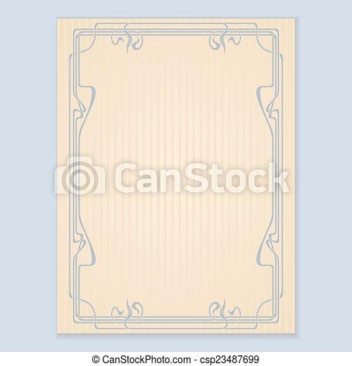 of, vector, card., uitnodiging, groet - csp23487699