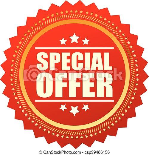 oferta, estrela, especiais, ícone - csp39486156