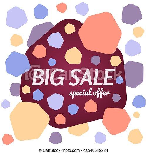Gran oferta de ofertas especiales sobre fondo blanco