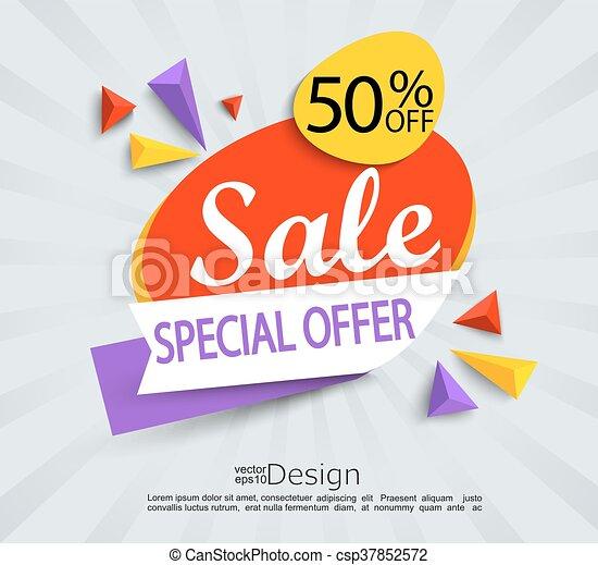 Venta - pancarta de oferta especial. - csp37852572