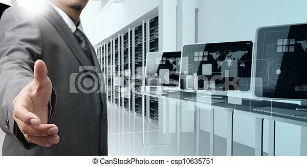 ofertas, hombre de negocios - csp10635751