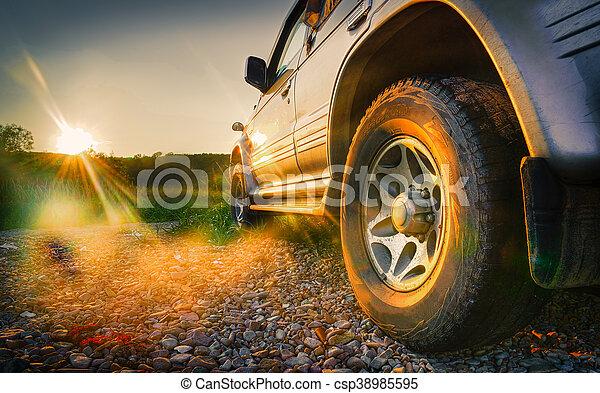 Off-road car travel - csp38985595