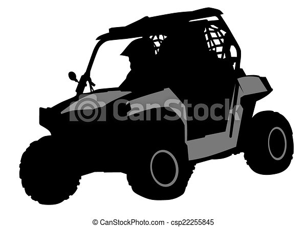 Off Road Silhouettes Athletes Atv During Races