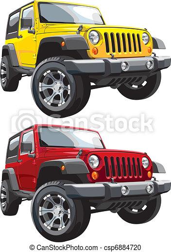 off-road jeep - csp6884720