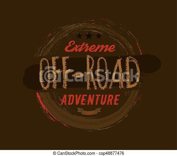 Off-Road Logo Image - csp48877476