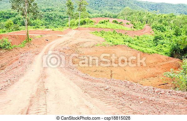 Off road track to the mountain - csp18815028