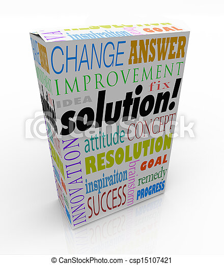 Off the Shelf Solution Product Box New Idea Answer - csp15107421