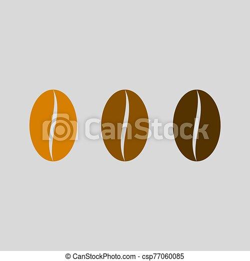 ?offee bean vector icon. Coffee Roasting - csp77060085