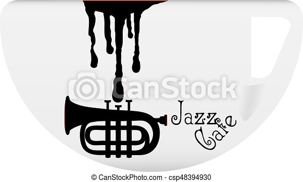 ?offee cup with symbol Jazz Cafe