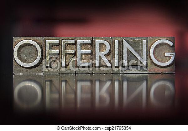 offerta, letterpress - csp21795354