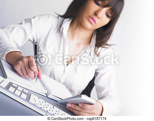 Office Assistant writing Schedule - csp6187174