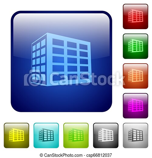 Office block color square buttons - csp66812037