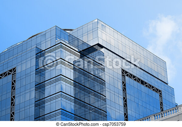 Office building and blue sky - csp7053759