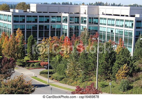 Office Building in Autumn - csp16469878