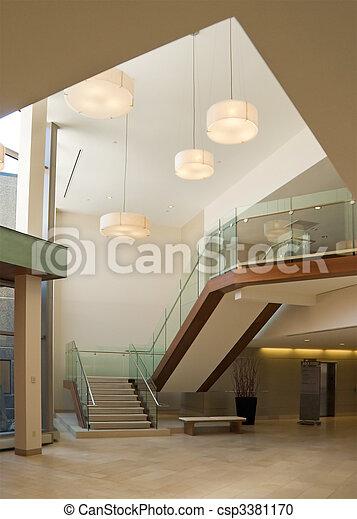 Office building lobby - csp3381170