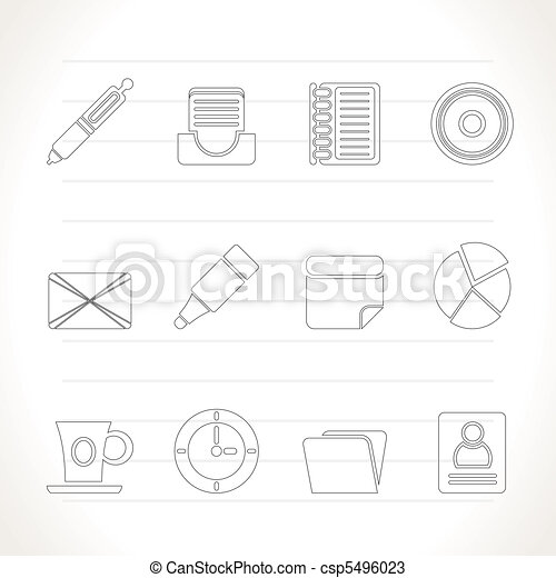 Office & Business Icons  - csp5496023