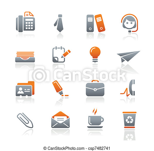 Office & Business Icons / Graphite - csp7482741
