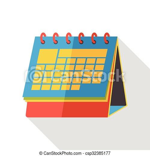 office calendar flat icon - csp32385177