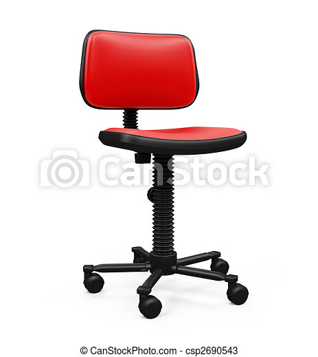 Office chair against white - csp2690543