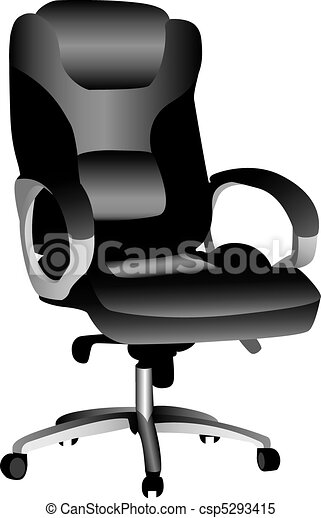 Office Chair A 3d Illustration Of An Isolated