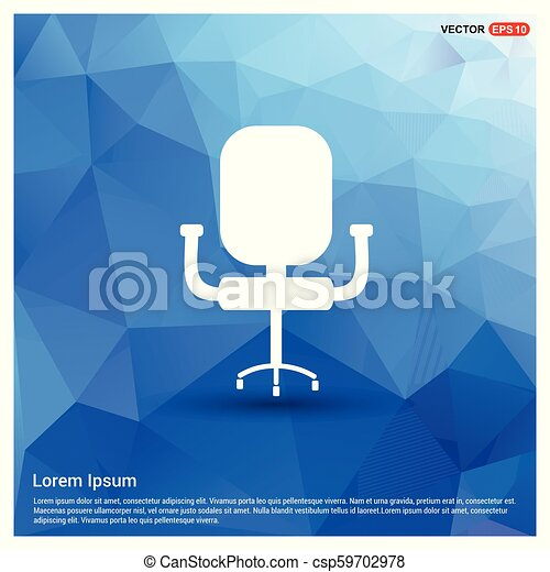 office chair icon free vector icon rh canstockphoto com Office Chair Symbol Blueprint Icon Chair