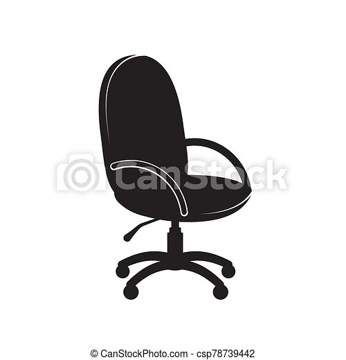 Office chair icon on a white isolated background. Vector image - csp78739442