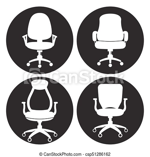 office chair icon. Office Chair Icons Set - Csp51286162 Icon