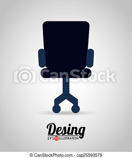 Office chair design, vector illustration eps10 graphic vectors ...