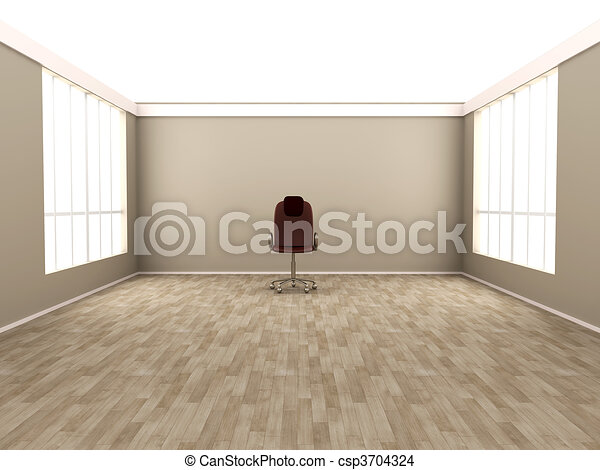 Office Chair In A Empty Room