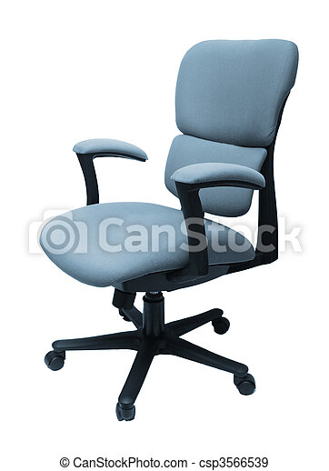 Office chair isolated - csp3566539