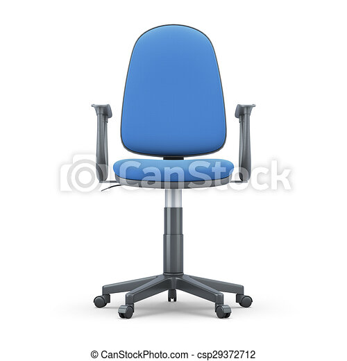 Astounding Office Chair With A Blue Trim On A White Background Uwap Interior Chair Design Uwaporg