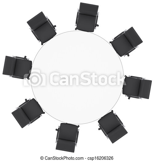 round table and chairs clipart. office chairs and round table - csp16206326 clipart l