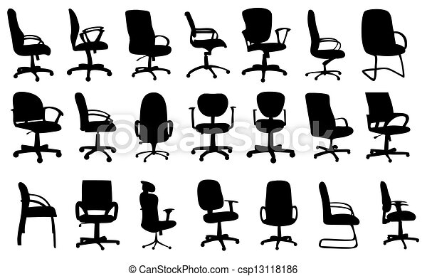 office chair clipart. office chairs silhouettes vector illustration - csp13118186 chair clipart