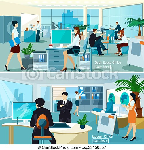 Office Compositions With Working People - csp33150557