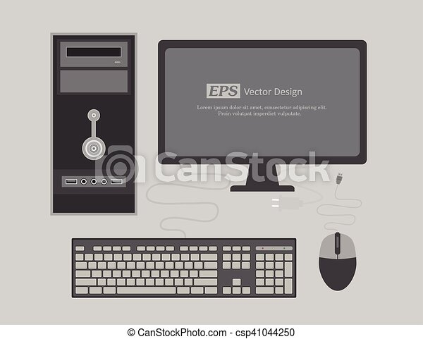 Office Computer Vector Illustration - csp41044250
