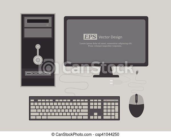 Office Computer Vector Illustration - csp41044250