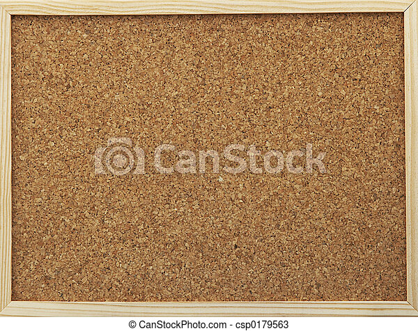 office cork board - csp0179563