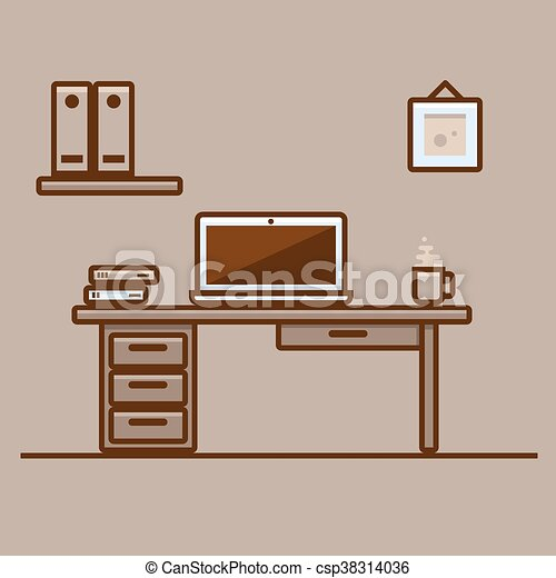 Sensational Office Desk Scenery With Laptop Download Free Architecture Designs Ogrambritishbridgeorg