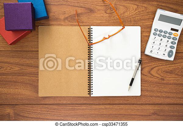 Office desk - csp33471355