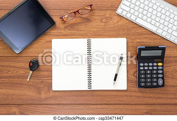 Office desk - csp33471447