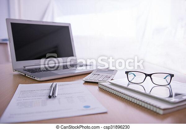 Office desk - csp31896230