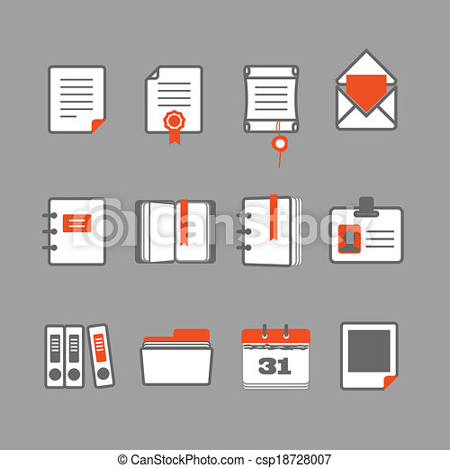 Office documents vector icons set - csp18728007