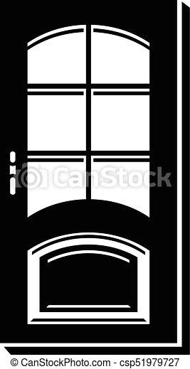 Office door icon simple style - csp51979727 & Office door icon simple style. Office door icon. simple ...