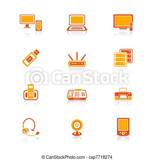 Office electronics icons | JUICY - csp7718274