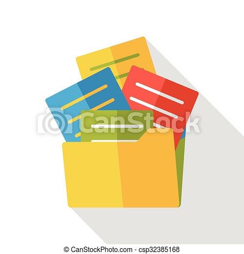 office files flat icon - csp32385168